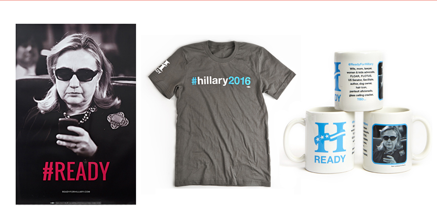 For a limited time, take 40% off the entire Ready for Hillary store